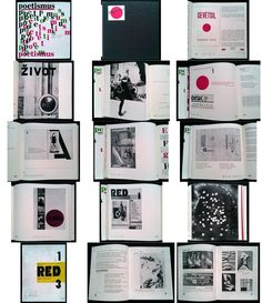 Czech avant-garde Poetism anthology #RED 1967 reprint - #Teige #Devetsil Gallery Wall, Books, Red, Libros, Book, Book Illustrations, Libri