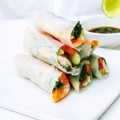 Fresh Prawn Rice-Paper Rolls Recipe Ideas - Healthy & Easy Recipes