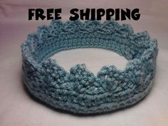 Blue Crochet Crown for Your Little Prince or by amydeming1 on Etsy, $6.00