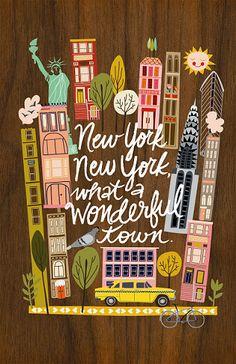 PRINTS :: Wonderful New York Print - Ecojot - eco savvy paper products