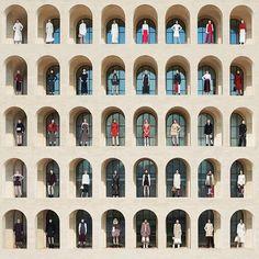 Palazzo della Civilta in Rome, Italy - Fendi Johnston Marklee, Fendi, Edinburgh Hotels, Pitsou Kedem, Arch Architecture, Architecture Interiors, Snow Photography, Fashion Photography, Assouline
