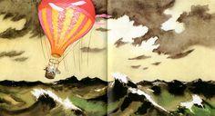 Den Farliga Resan (The Dangerous Journey) by Tove Jansson, Bonnier Carlsen, 1977 (Swedish language version) Les Moomins, Moomin Valley, Tove Jansson, Children's Book Illustration, Book Illustrations, Weird Creatures, Childrens Books, Storytelling, Balloons