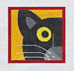 Needlepoint --> EyeCandy  Nosey Cat - obvious for Libby or Ali!