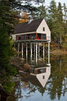 This beautiful waterfront home's inspiration came from local wharf buildings and fishing shacks.