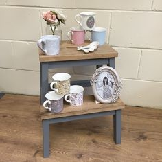 Original Ikea Bekvam Stool painted in Pure&Original Pigeon Grey Classico Chalk Paint - Showing off out lovely Katie Alice ranges Bekvam Stool, Ikea Bekvam, Ikea Stool, Ikea Home, Home Improvement Projects, Decoration, Painted Furniture, Entryway Tables, Sweet Home