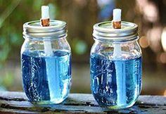 How to Make Mason Jar Citronella Torches