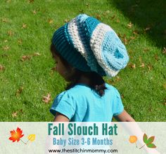 Fall Slouch Hat - Baby Size 3-6 Months | free crochet pattern in Crochet with US CAL on www.thestitchinmommy.com