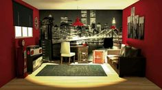 Google and usa on pinterest for Idee deco chambre new york