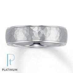 Platinum Wedding Band for Him