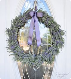 Centsational Girl » Blog Archive Simple Summer Lavender Wreath - Centsational Girl