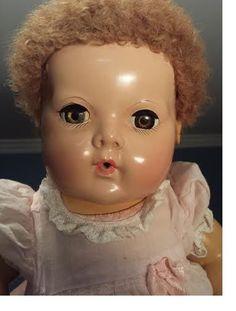 """MINT Vintage EFFANBEE DY DEE BABY DOLL 15""""  Rubber/hard rubber/applied ears #Dolls"""