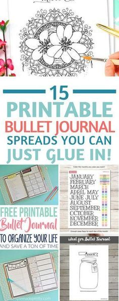 50 Awesome Bullet Journal Printables {You can still be creative when you're short on time!} Bullet Journal Printables – totally in love with these printable spreads – for when you don't have time to be creative! Especially love the FlyLady zone checklist!
