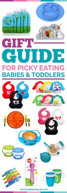 Gift Guide For Picky Eaters Babies And Toddlers | Christmas Gifts For Kids | Perfect Christmas Gift For Babies | The Best Toddler Feeding Products | The Best Baby Feeding Products | Toddler Christmas Gift Guide | The Best Baby Gift Guide | Holiday Gifts For Babies | #giftguide | #pickyeater| #Christmas | www.awesomealice.com