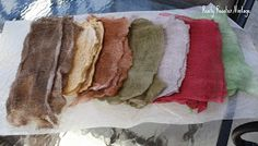 Dunking and spraying are my high tech terms for how I color lace, cheesecloth, shipping tags and found objects for my artwork. Anyone can d...