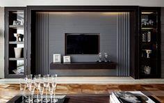 梁志天-香港跑马地蓝塘道 6011585 Tv Feature Wall, Feature Wall Design, Tv Wall Design, House Design, Classic Living Room, Living Room Modern, Living Room Interior, Living Room Designs, Living Tv