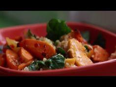 Teplý sálat z quinoy, batáty a máslové dýně https://youtu.be/Q3cceQZBBd0  #spicy #vegan #quinoa #batáta #mňam