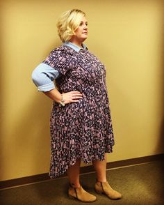Lularoe Carly Dress in an adorable arrow pattern. Love the look of wearing it with a chambray or denim shirt underneath. So cute!