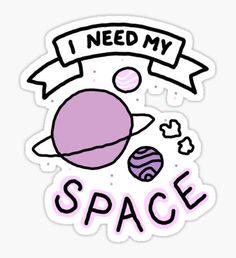 Introvert space galaxy awkward teen tumblr snapchat sticker print Sticker