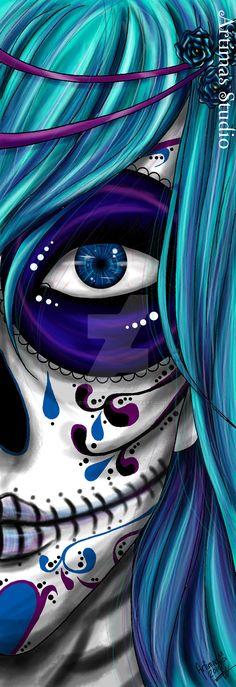 Blue Death by ArtimasStudio.deviantart.com on @DeviantArt