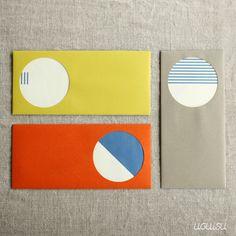 Window Envelopes + Patterned Cards