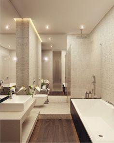 faience salle de bain leroy merlin beige et fleurs blanches - Salle De Bain Moderne Beige