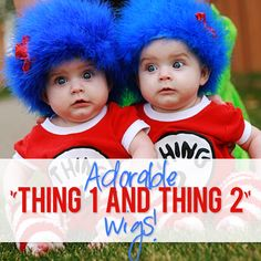 Thing 1 and Thing 2 costume idea