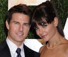 A photo of Katie Holmes & Tom Cruise when they were married.
