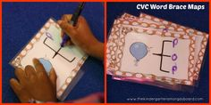 CVC Brace maps are perfect for helping students hear the sounds in words!