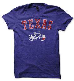Texas Bicycle T-shirt. Bike tshirt. Cycling graphic tee. on Etsy, $21.00