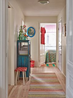 bright painted furnishings, lovely turquoise