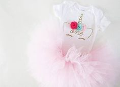 Baby Girl Unicorn First Birthday Outfit Unicorn Tutu Outfit