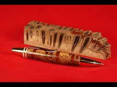 Turning a Banksia Pen With Dyed Epoxy #10 - YouTube