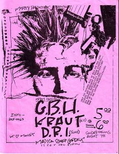 GBH, Kraut, DRI @ The Whisky 1983