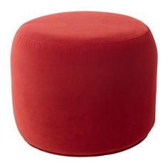 IKEA - STOCKHOLM 2017, Ottoman, Sandbacka orange, , You can use the ottoman in many ways – as a footrest, extra seating, or as a table if you place a tray on top.Velvet is a soft, luxurious fabric that is resistant to abrasion and easy to clean using the soft brush attachment on your vacuum.Easy to move thanks to its small size.