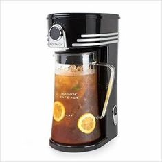 Iced Coffee and Tea Brewing System - Find unique gift ideas for foodies, for those who love to cook, love to eat, wine lovers, bar accessories and that enjoy unique kitchen gifts and accessories at Gifteee Unique Gifts, Cool gifts for men and women Best Iced Tea Maker, Iced Coffee Maker, Cold Brew Coffee Maker, Fresh Ground Coffee, Condiment Holder, Nostalgia, Brewing Tea, Best Tea, Small Appliances