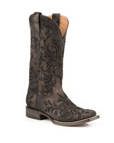 Stetson Boots Women's Spot Black Vamp With Glitter Cowgirl Boots  http://www.countryoutfitter.com/products/53022-womens-spot-black-vamp-with-glitter-boot