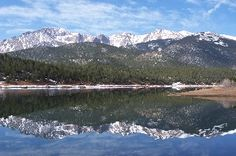 "Pikes Peak, Colorado Springs.  I love that this is my ""backyard""!!"