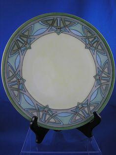 "Thomas Bavaria Art Deco Plate (Signed ""Blackman""/c.1908-1940)"