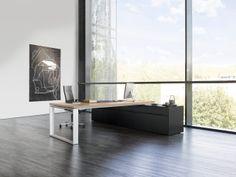 SONO - Bureau de direction avec desserte/retour intégrée - Design Justus KOLBERG - RENZ