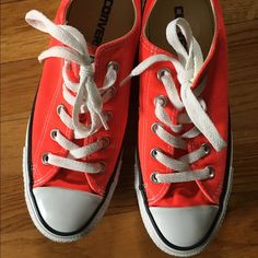 c2b14af47d3f Shop Women s Converse Orange size Athletic Shoes at a discounted price at  Poshmark.