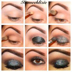 Smoky Glitter Eye! Wow really makes brown eyes POP! Love it!