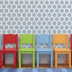 Geometric Pattern Stencils Yeriel for Walls DIY decor fabrics and furniture