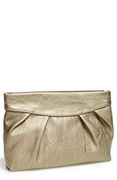 POVERTY FLATS by rian 'Crushed' Hinged Faux Leather Clutch