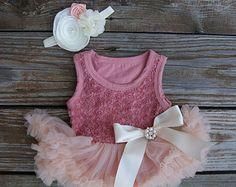 Petti skirt. Baby pettiskirt. Baby tutu dress. by KadeesKloset