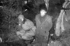 """Ujęcie Andrzeja Kiszki """"Dęba"""" 31 grudnia 1961r. wlasach niedaleko Huty Krzeszowskiej"""