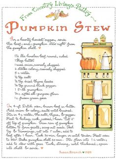 Pumpkin Stew by Susan Branch