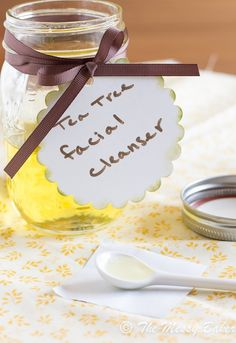 Homemade Tea Tree Oil Facial Cleanser: A gentle, all natural cleanser that heals and moisturizes.