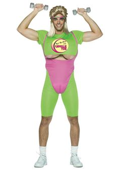 This Camille Toe Costume is a hilariously funny Halloween costume that will have your friends roaring with laughter. You'll look like a hot aerobics instructor complete with fake chest and exposed . Crazy Halloween Costumes, Halloween Scene, Baby Costumes, Funny Halloween Costumes, Adult Costumes, Halloween Gifts, Halloween Ideas, Happy Halloween, Angel Fancy Dress Costume