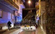 Tα πάντα όλα εδώ News !: Νταλίκα «σφήνωσε» κάτω από μπαλκόνι