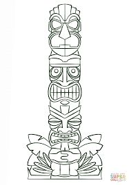 free printable totem pole coloring pages for kids animal totems totems and free printable. Black Bedroom Furniture Sets. Home Design Ideas